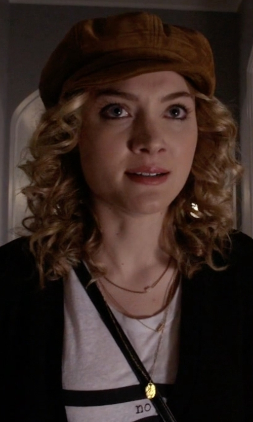 Skyler Samuels with Urban Outfitters For Keeps Crystal LayeringNecklace in Scream Queens