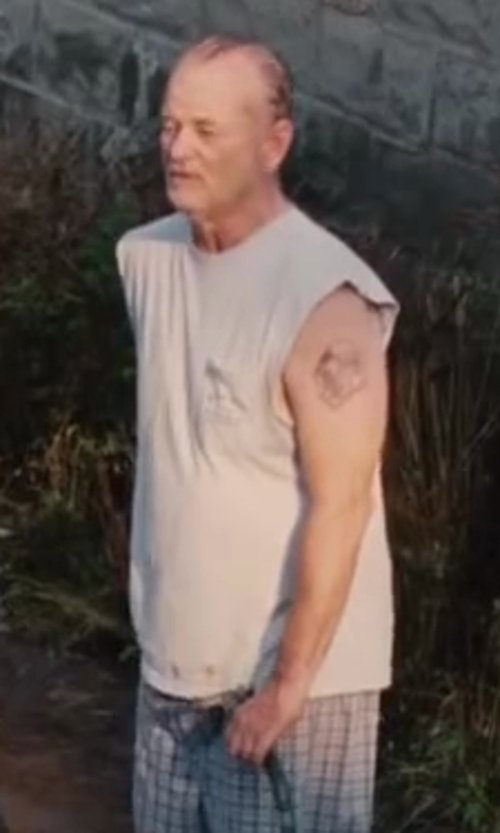 Bill Murray with Nautica Men's Muscle Tee in St. Vincent