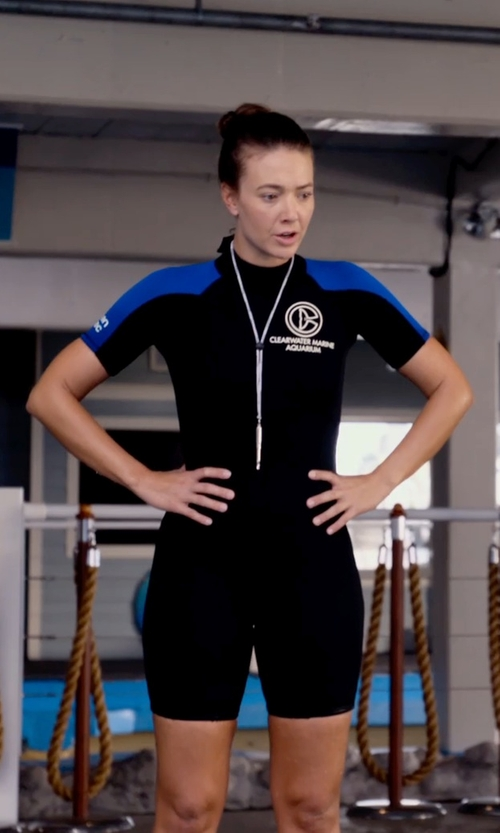 Austin Highsmith with Ocean Tec Custom Made Ladies Shorty Stretch Wetsuit (Austin Highsmith) in Dolphin Tale 2