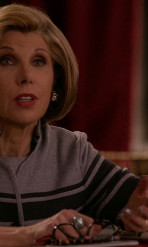 Christine Baranski with Versace New Krios Analog Watch in The Good Wife
