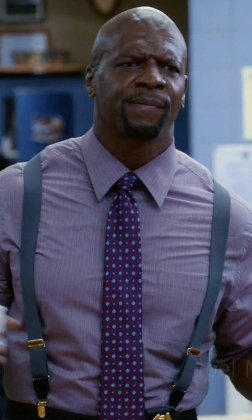 Terry Crews with Barneys New York Square-Pattern Necktie in Brooklyn Nine-Nine
