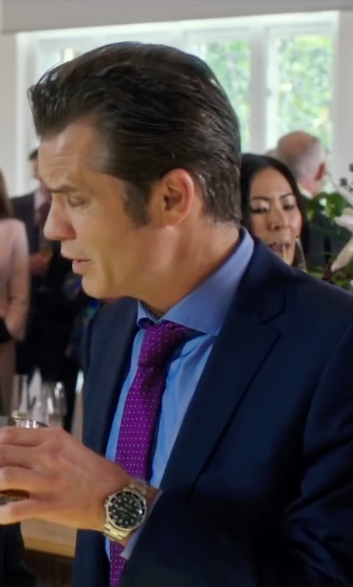 Timothy Olyphant with Bulova Silvertone Watch in Snowden