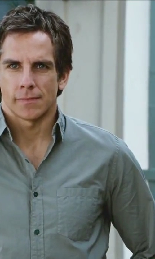 Ben Stiller with Aglini Solid Button Down Shirt in Little Fockers