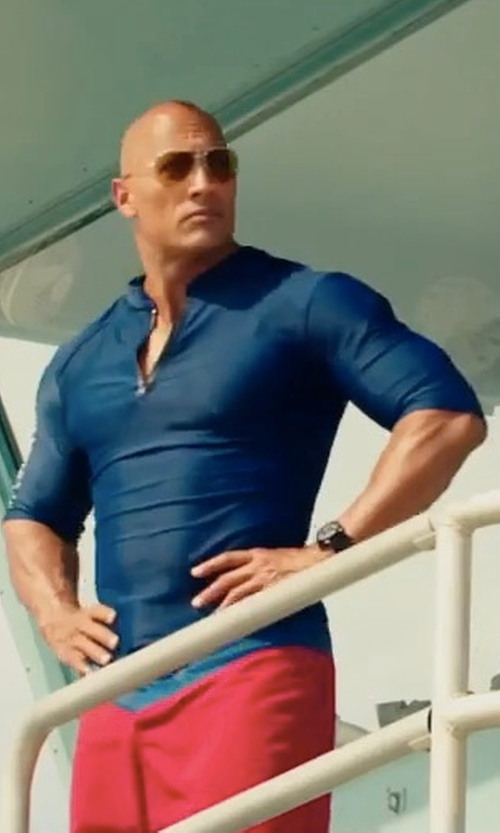 Dwayne Johnson with Under Armour Custom Made Lifeguard Compression Shirt in Baywatch