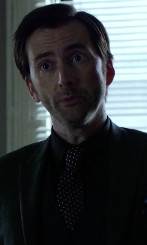 David Tennant with Versace Slim Silk Tie in Jessica Jones