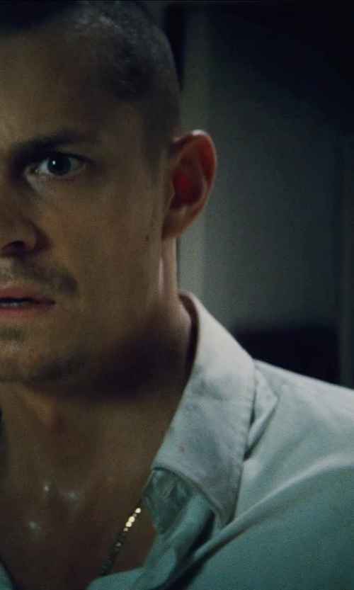 Joel Kinnaman with Eton Contemporary Fit Tuxedo Shirt in Run All Night