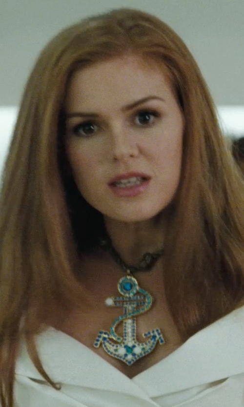 Isla Fisher with Betsey Johnson Large Anchor Rope Necklace in Confessions of a Shopaholic