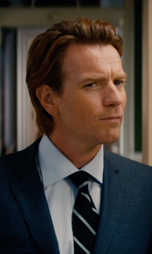 Ewan McGregor with Tommy Hilfiger Non-Iron Solid Dress Shirt in Mortdecai