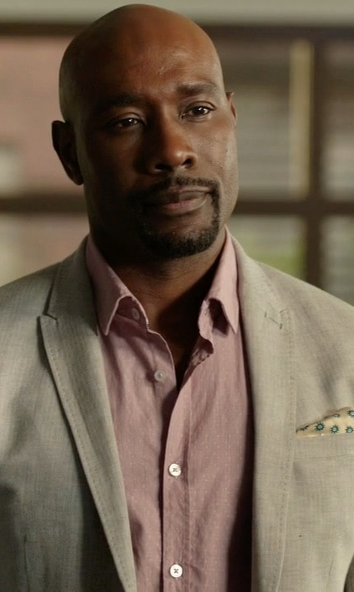 Morris Chestnut with Canali Two Piece Suit in Rosewood