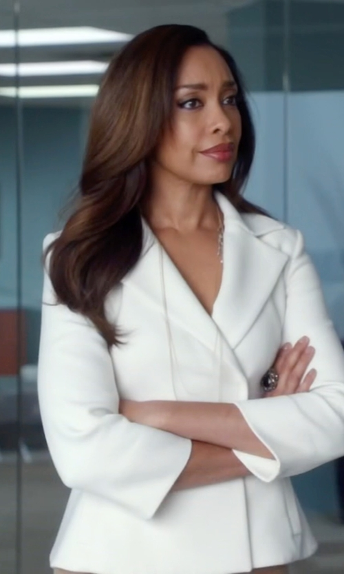 Gina Torres with Boglioli Double Breasted Blazer in Suits