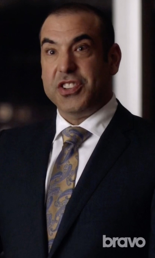 Rick Hoffman with J.Z Richards Paisley Silk Tie in Suits