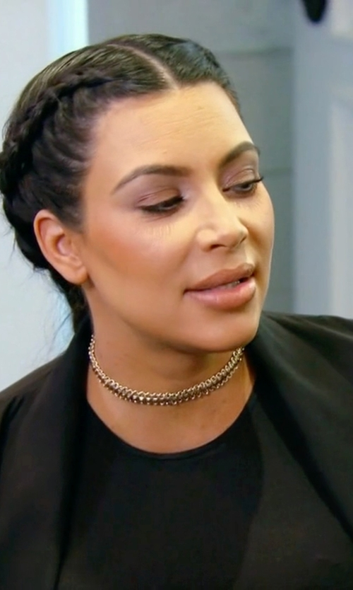 Kim Kardashian West with Maison Margiela Woven Metal Choker Necklace in Keeping Up With The Kardashians