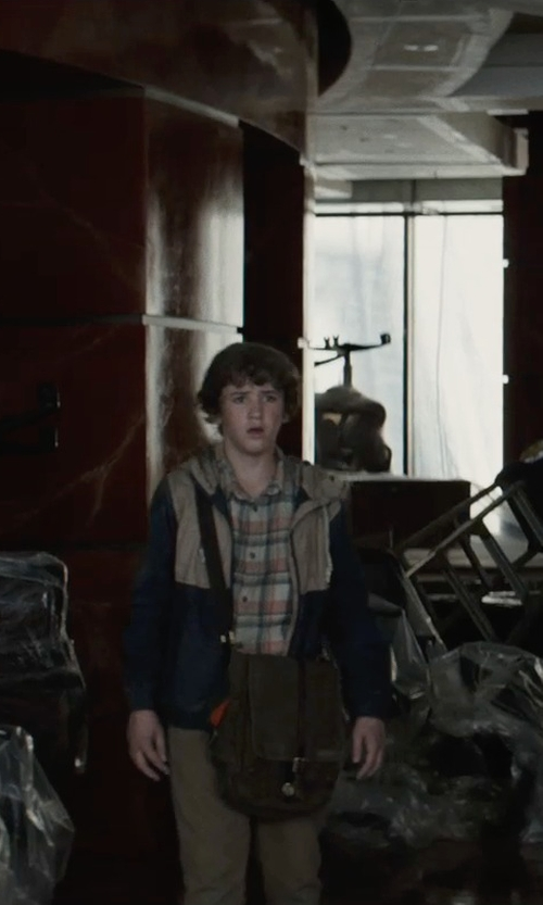 Art Parkinson with Oshkosh B'gosh Colorblock Jacket in San Andreas