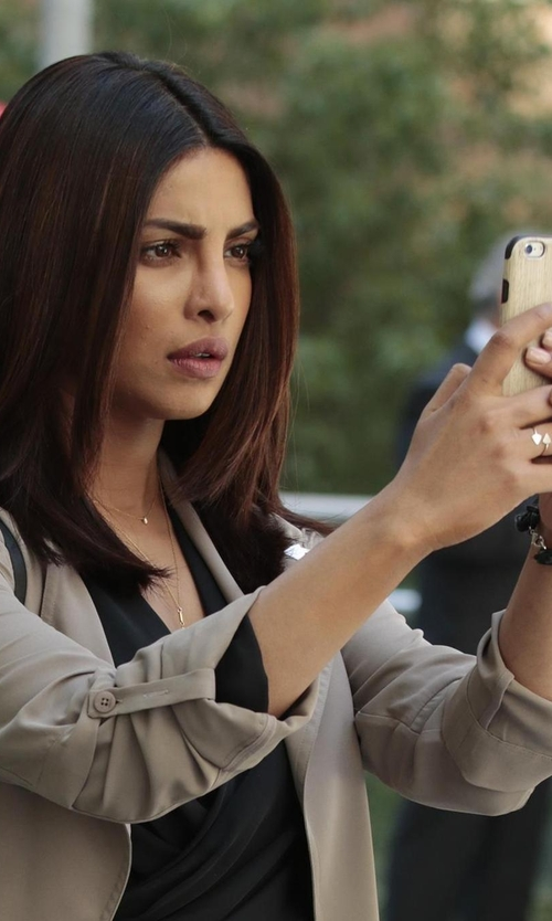 Priyanka Chopra with Irina Victoria Jewelry The Juliet Ring in Quantico