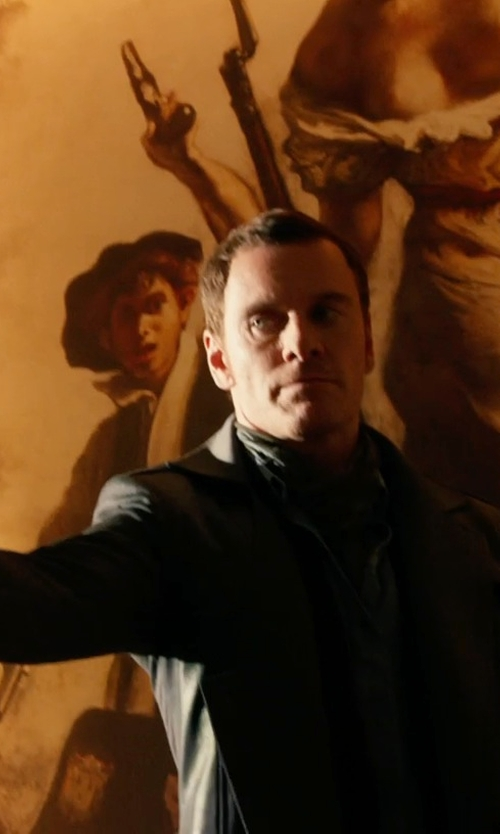 Michael Fassbender with Dirk Bikkembergs Sport Couture Wool Overcoat in X-Men: Days of Future Past