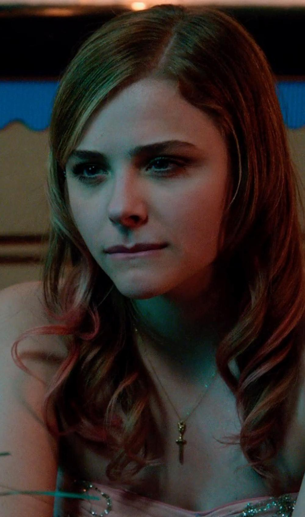 Chloë Grace Moretz with Sterling Silver Cross Pendant in Laggies
