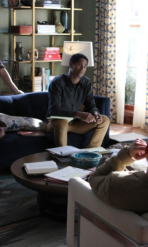 Alfred Enoch with Yoon Long Sleeve Button Down Shirt in How To Get Away With Murder