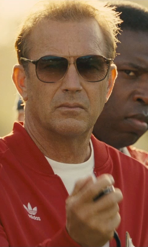 Kevin Costner with Adidas Originals Superstar Track Top Jacket in McFarland, USA