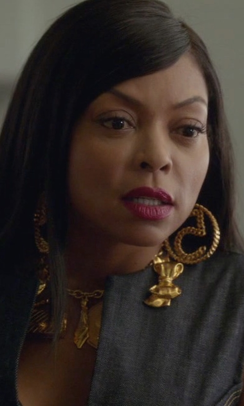 Taraji P. Henson with Chanel Chanel No.5 Chain Motif Earrings in Empire