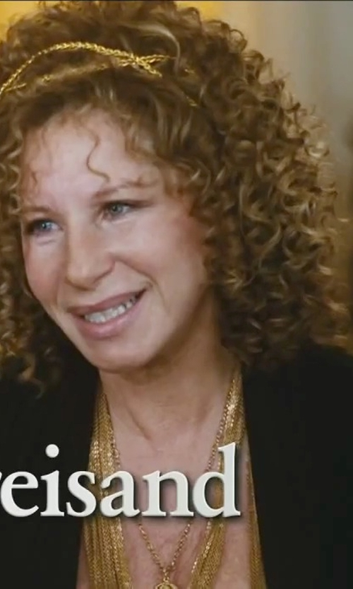 Barbra Streisand with Alice + Olivia Draped Knit Circle Cardigan in Little Fockers