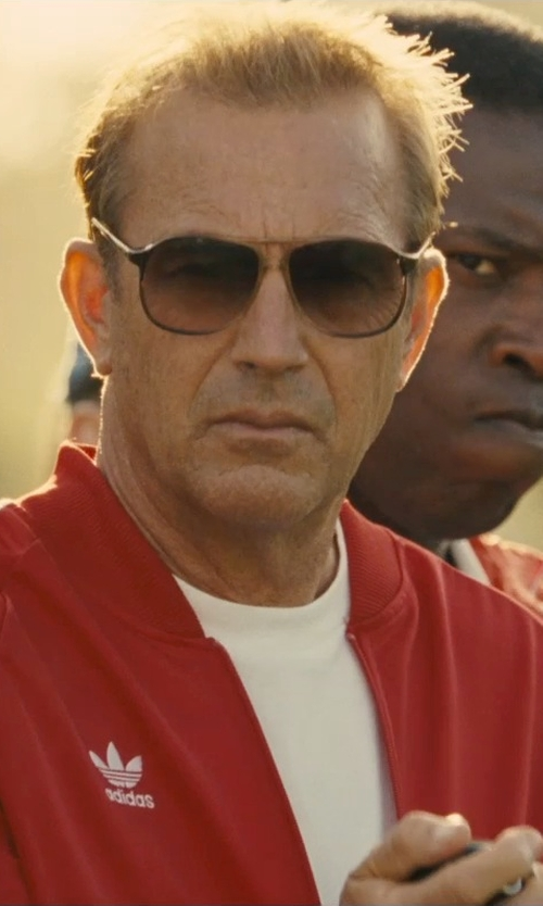 Kevin Costner with Boss Hugo Boss Crewneck T-Shirt in McFarland, USA