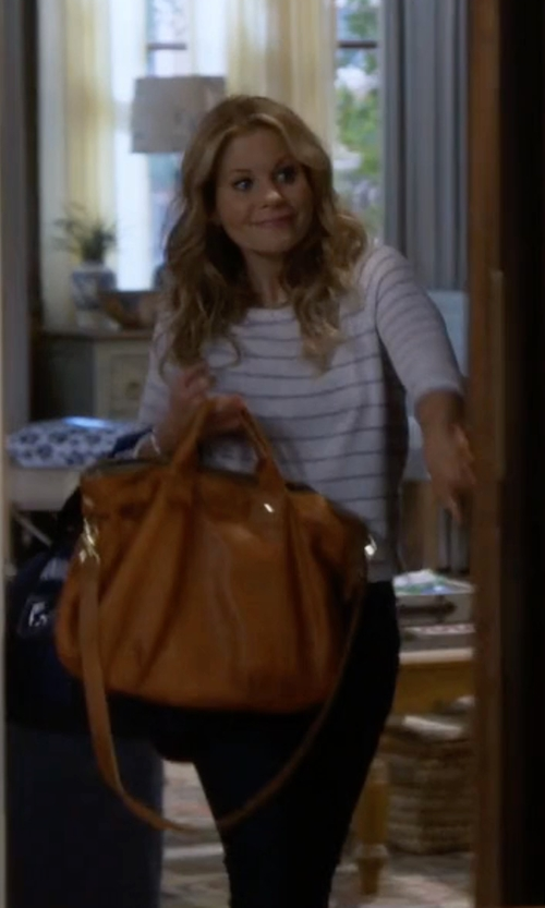 Candace Cameron Bure with Clare V. Messenger Bag in Fuller House
