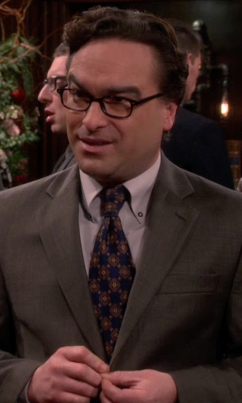 Johnny Galecki with Drake's Diamond Medallion Faille Necktie in The Big Bang Theory