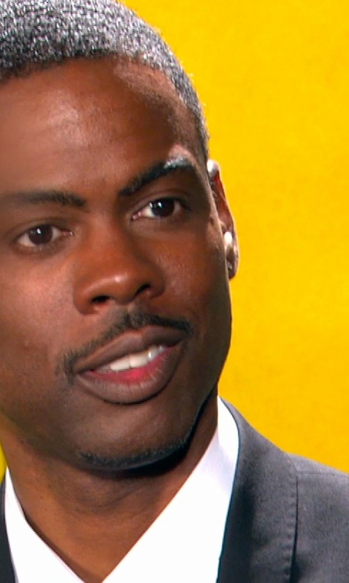Chris Rock with Giorgio Armani Peak-Lapel Single-Breasted Tuxedo in Top Five