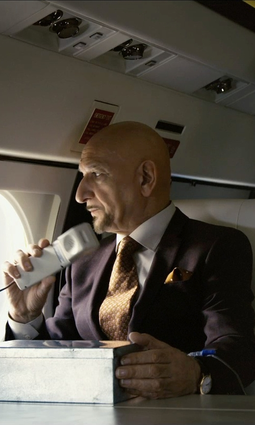 Ben Kingsley with Armitron Leather Strap Analog Watch in Self/Less