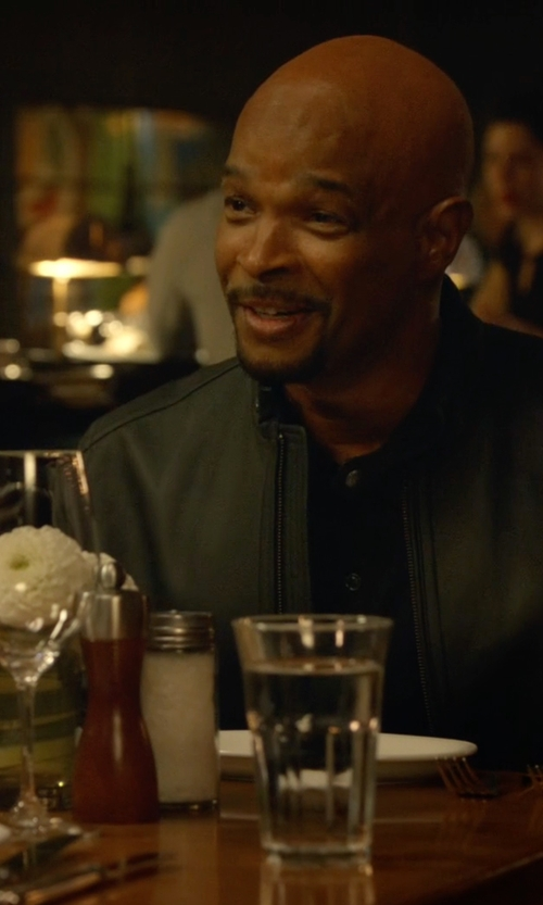 Damon Wayans with Calvin Klein Faux-Leather Moto Jacket in Lethal Weapon