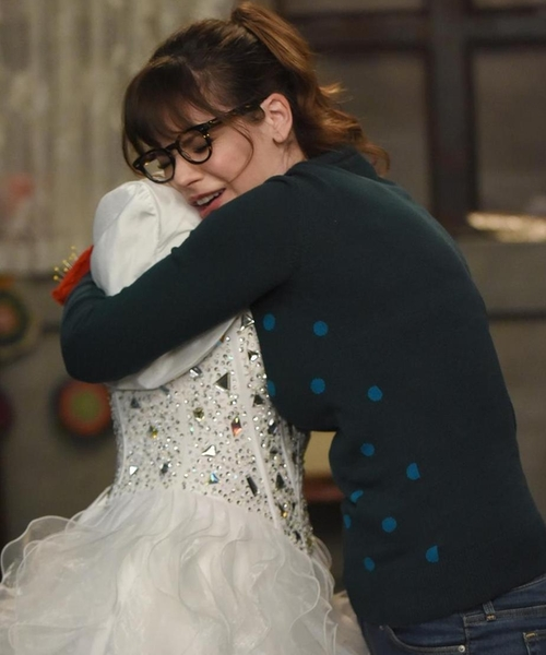 Zooey Deschanel with Roksanda Sweater in New Girl