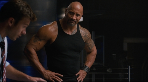 Dwayne Johnson with Inblue Leather Bracelet in The Fate of the Furious