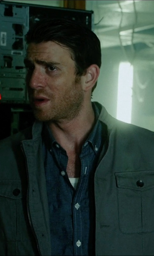 Bryan Greenberg with Michael Michael Kors Camden Wool-Blend Multi-Pocket Field Coat in Vice