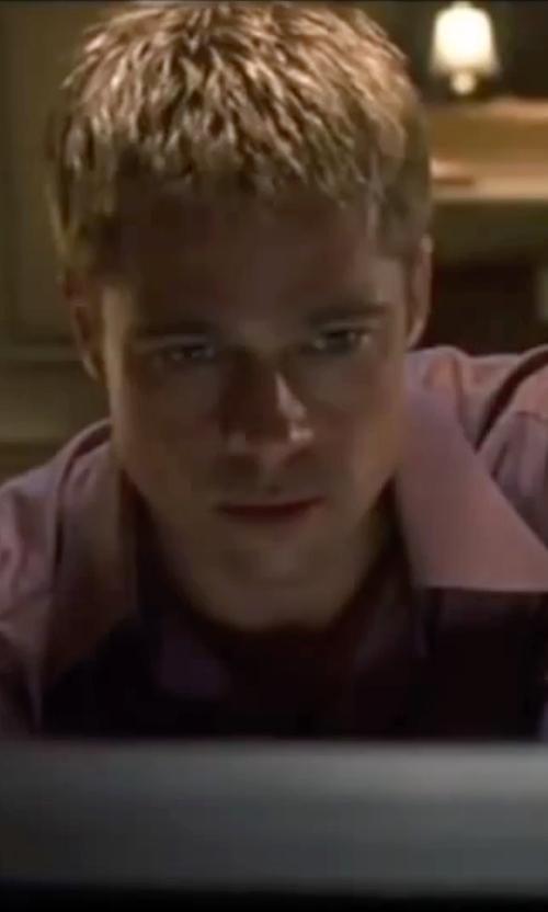Brad Pitt with Boss Spread Collar Dress Shirt in Ocean's Eleven