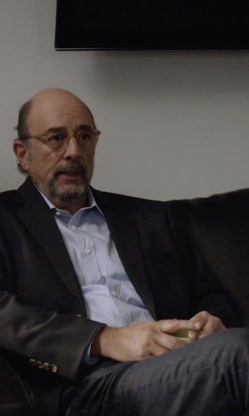 Richard Schiff with Armani Slim Fit Black Wash Jeans in Ballers