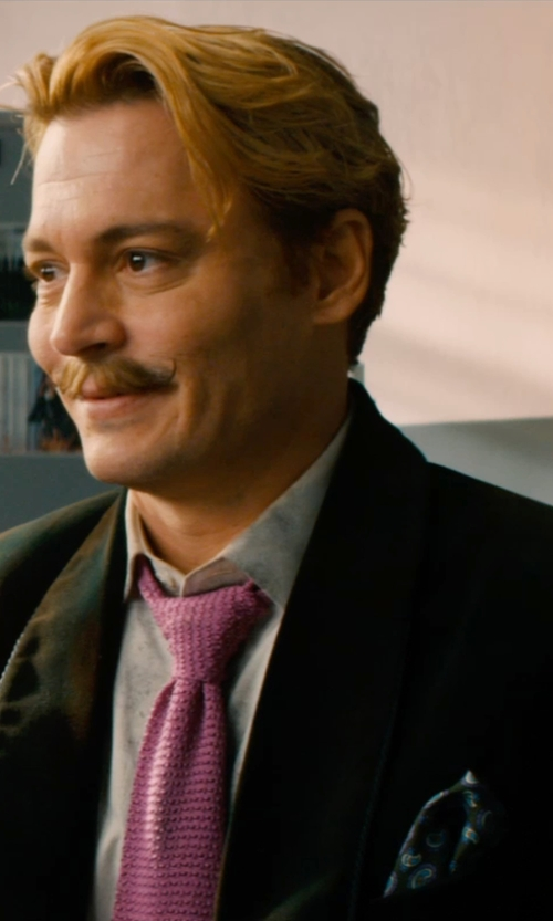 Johnny Depp with Lanvin Men's Blazer in Mortdecai