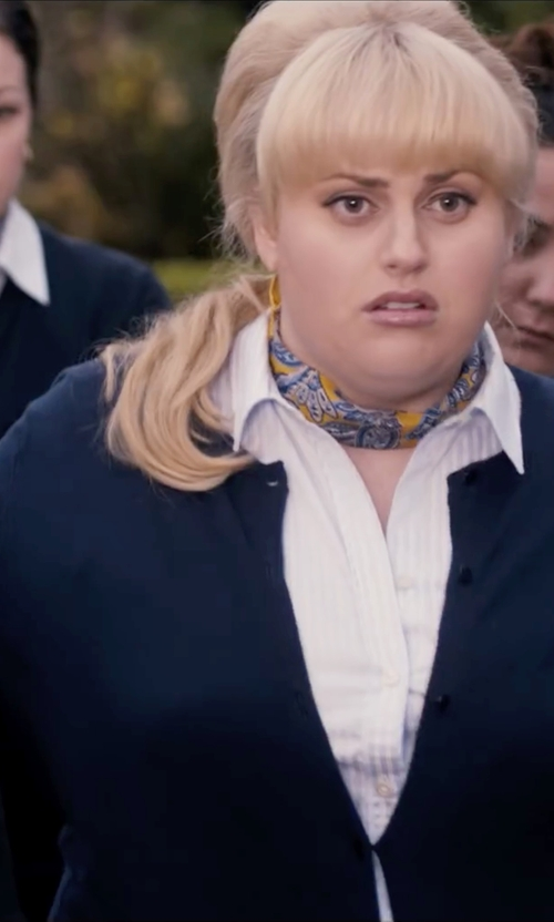 Rebel Wilson with J.Crew Cotton Jackie Cardigan Sweater in Pitch Perfect