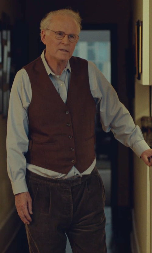 Charles Grodin with AG Adriano Goldschmied Corduroy 'Protégé' Pants in While We're Young