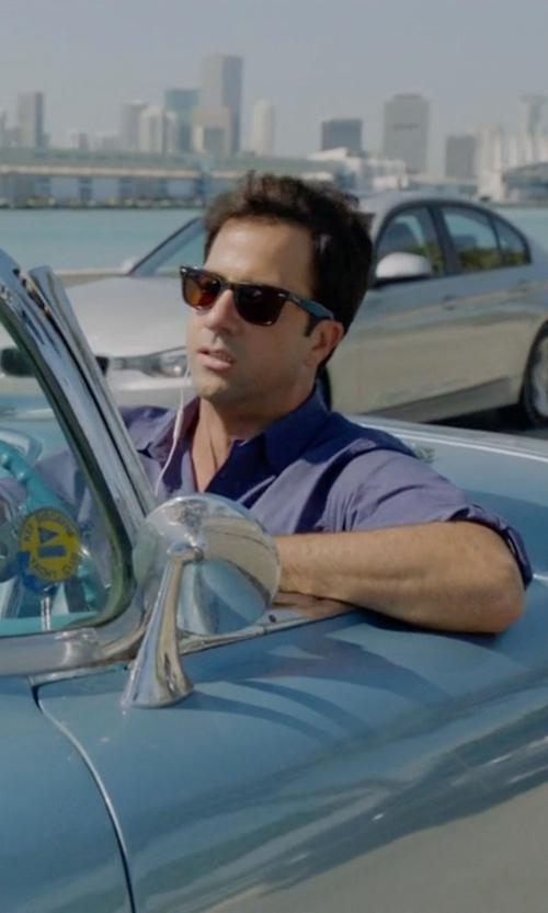 Troy Garity with Ray-Ban 'Original Wayfarer Classic' Sunglasses in Ballers