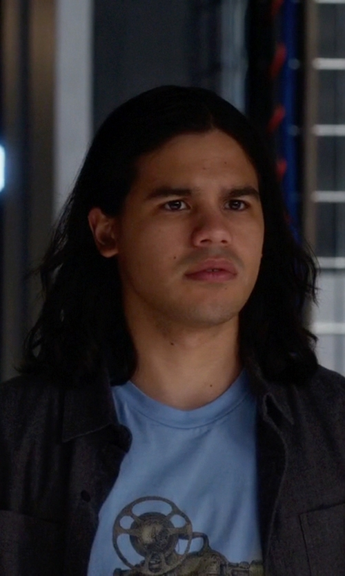 Carlos Valdes with Pendleton Board Shirt in The Flash
