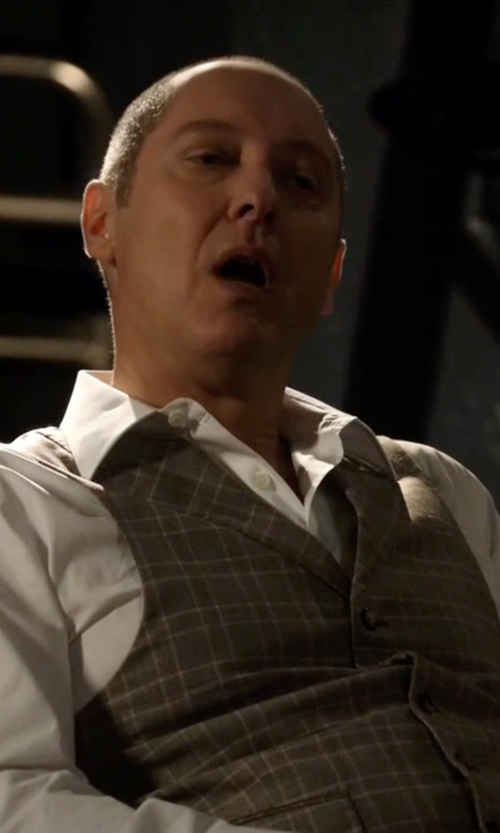 James Spader with Richard James Cotton-Poplin Shirt in The Blacklist