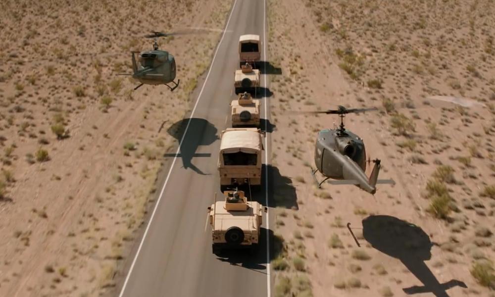 Extraterrestrial Highway Nevada, USA in Godzilla