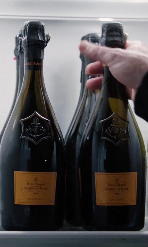 Damian Lewis with Veuve Clicquot La Grande Dame Champagne in Billions
