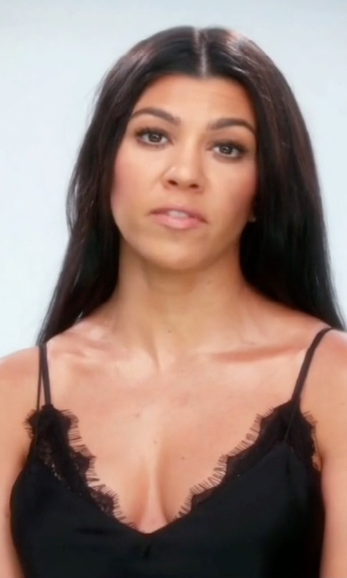 Kourtney Kardashian with The Kooples Silk & Lace Camisole in Keeping Up With The Kardashians