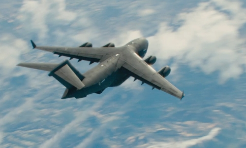 No Actor with Lockheed C-130A Hercules Plane in Furious 7