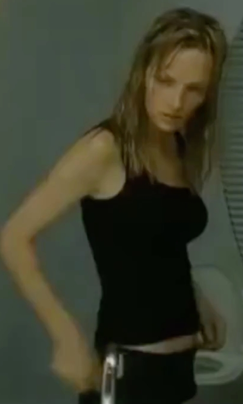 Uma Thurman with James Perse Long Jersey Tank Top in Kill Bill: Vol. 2