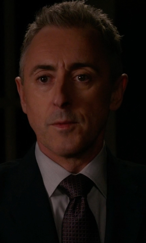 Alan Cumming with Boss Check Silk Tie in The Good Wife