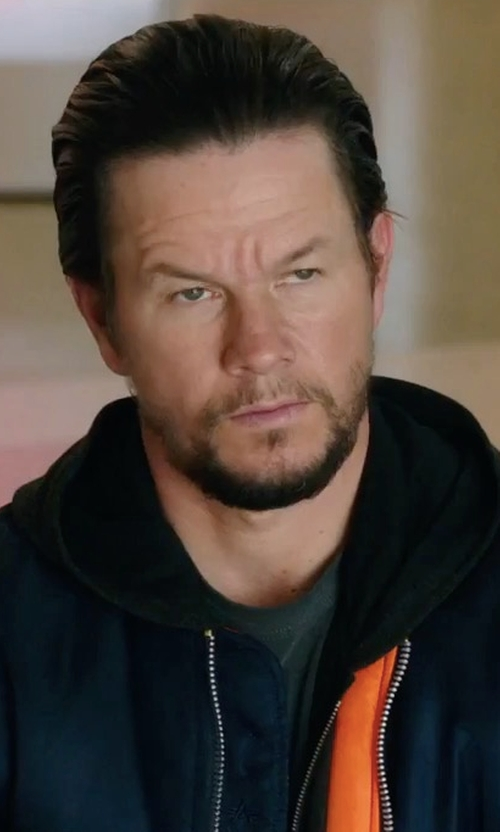Mark Wahlberg with Alpha Industries L 2B Scout Bomber Jacket in Daddy's Home 2