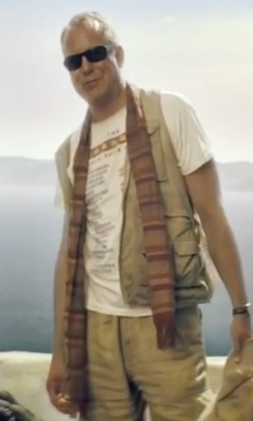 Stellan Skarsgård with Nordstrom Large Plaid Wool Scarf in Mamma Mia!