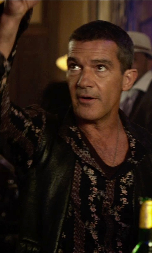 Antonio Banderas with Bsbee Printed Shirt in The Expendables 3